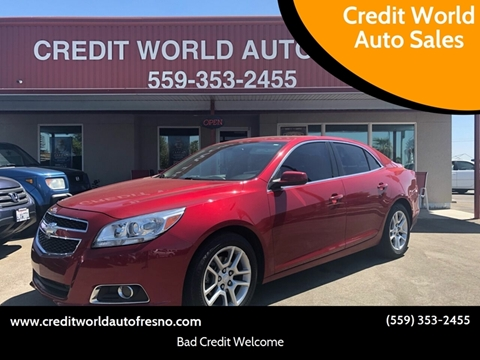 2013 Chevrolet Malibu for sale at Credit World Auto Sales in Fresno CA