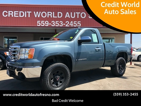2008 GMC Sierra 1500 for sale at Credit World Auto Sales in Fresno CA