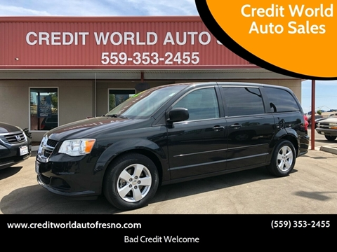 2014 Dodge Grand Caravan for sale at Credit World Auto Sales in Fresno CA