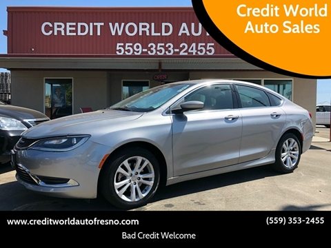 2015 Chrysler 200 for sale at Credit World Auto Sales in Fresno CA