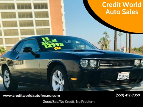 2013 Dodge Challenger for sale at Credit World Auto Sales in Fresno CA