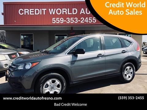 2014 Honda CR-V for sale at Credit World Auto Sales in Fresno CA