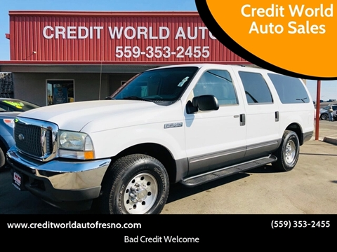 2004 Ford Excursion for sale at Credit World Auto Sales in Fresno CA