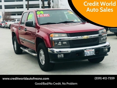2004 Chevrolet Colorado for sale at Credit World Auto Sales in Fresno CA