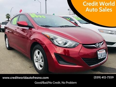 2015 Hyundai Elantra for sale at Credit World Auto Sales in Fresno CA