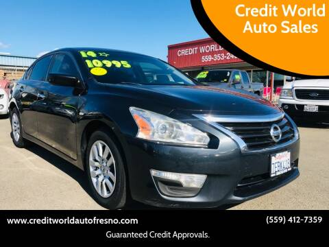 2014 Nissan Altima for sale at Credit World Auto Sales in Fresno CA