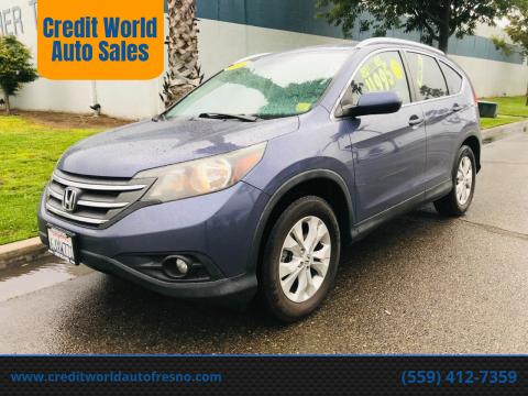 2012 Honda CR-V for sale at Credit World Auto Sales in Fresno CA