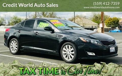 2014 Kia Optima for sale at Credit World Auto Sales in Fresno CA