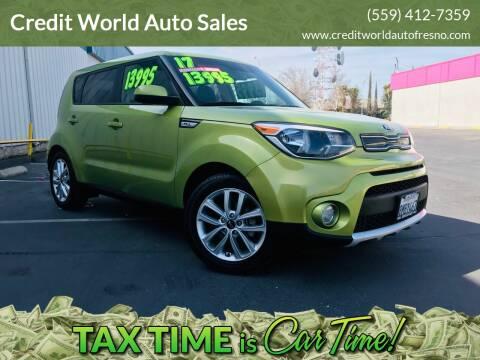 2017 Kia Soul for sale at Credit World Auto Sales in Fresno CA