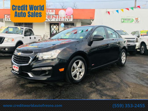 2016 Chevrolet Cruze Limited for sale at Credit World Auto Sales in Fresno CA