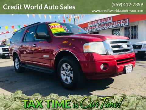 2008 Ford Expedition EL for sale at Credit World Auto Sales in Fresno CA