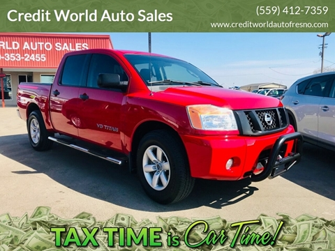 2011 Nissan Titan for sale at Credit World Auto Sales in Fresno CA