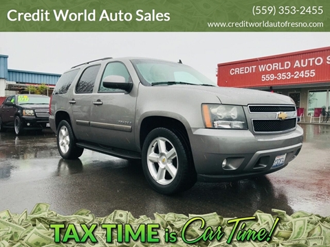 2007 Chevrolet Tahoe for sale at Credit World Auto Sales in Fresno CA