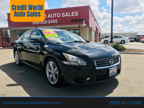 2012 Nissan Maxima for sale at Credit World Auto Sales in Fresno CA