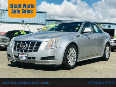 2012 Cadillac CTS for sale at Credit World Auto Sales in Fresno CA