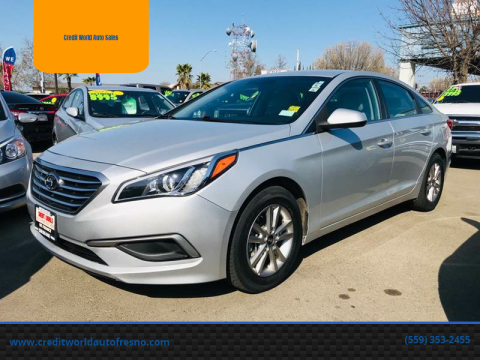 2016 Hyundai Sonata for sale at Credit World Auto Sales in Fresno CA