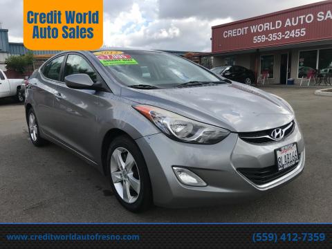 2012 Hyundai Elantra for sale at Credit World Auto Sales in Fresno CA