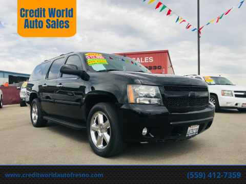2011 Chevrolet Suburban for sale at Credit World Auto Sales in Fresno CA
