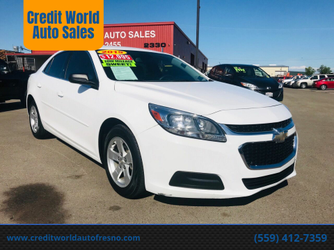 2015 Chevrolet Malibu for sale at Credit World Auto Sales in Fresno CA