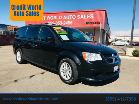 2015 Dodge Grand Caravan for sale at Credit World Auto Sales in Fresno CA