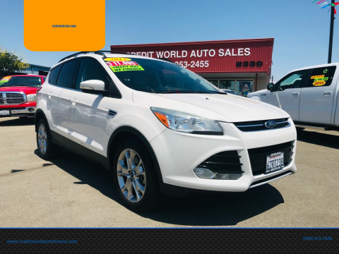 2013 Ford Escape for sale at Credit World Auto Sales in Fresno CA