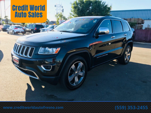 2014 Jeep Grand Cherokee for sale at Credit World Auto Sales in Fresno CA