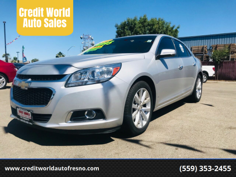 2016 Chevrolet Malibu Limited for sale at Credit World Auto Sales in Fresno CA