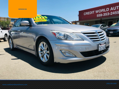 2013 Hyundai Genesis for sale at Credit World Auto Sales in Fresno CA
