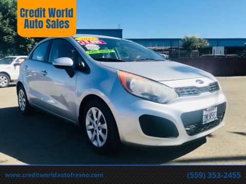 2015 Kia Rio 5-Door for sale at Credit World Auto Sales in Fresno CA