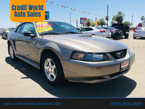 2002 Ford Mustang for sale at Credit World Auto Sales in Fresno CA