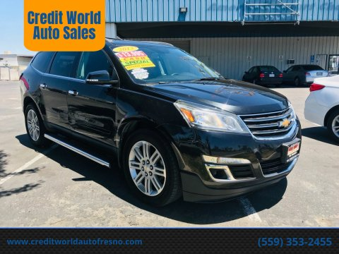 2013 Chevrolet Traverse for sale at Credit World Auto Sales in Fresno CA