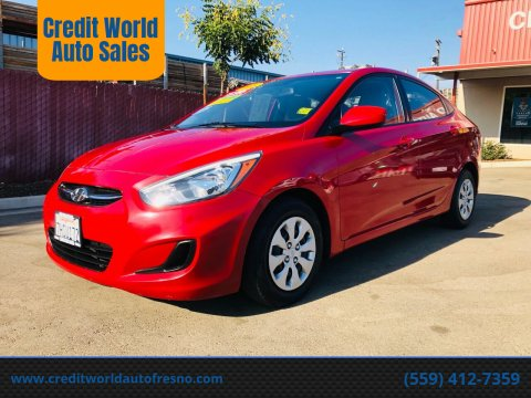 2015 Hyundai Accent for sale at Credit World Auto Sales in Fresno CA