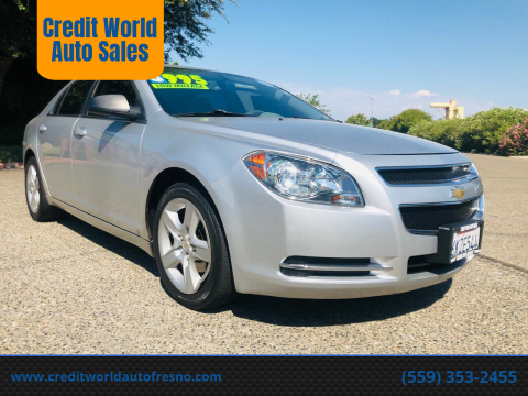 2009 Chevrolet Malibu for sale at Credit World Auto Sales in Fresno CA