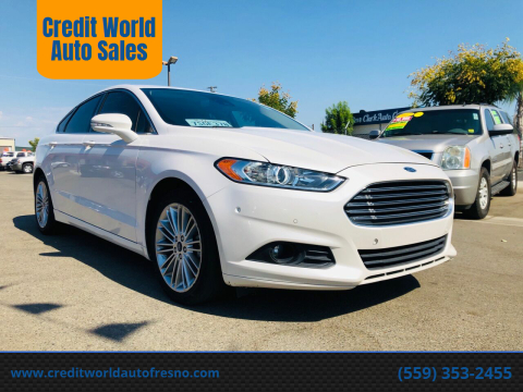 2014 Ford Fusion for sale at Credit World Auto Sales in Fresno CA