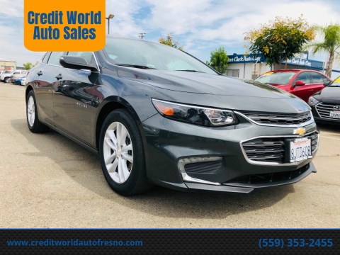 2017 Chevrolet Malibu for sale at Credit World Auto Sales in Fresno CA