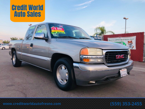 2000 GMC Sierra 1500 for sale at Credit World Auto Sales in Fresno CA