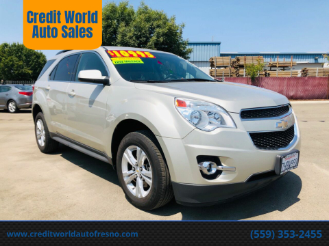 2015 Chevrolet Equinox for sale at Credit World Auto Sales in Fresno CA