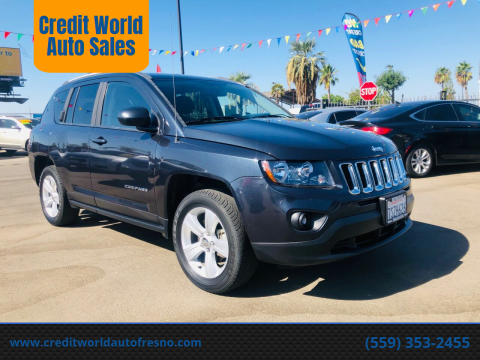 2016 Jeep Compass for sale at Credit World Auto Sales in Fresno CA
