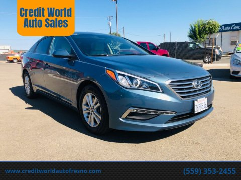 2015 Hyundai Sonata for sale at Credit World Auto Sales in Fresno CA