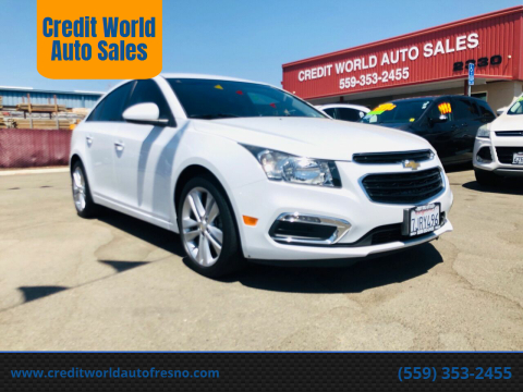 2015 Chevrolet Cruze for sale at Credit World Auto Sales in Fresno CA