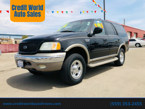 2002 Ford Expedition for sale at Credit World Auto Sales in Fresno CA
