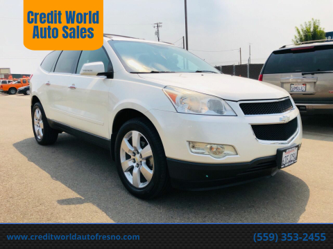 2012 Chevrolet Traverse for sale at Credit World Auto Sales in Fresno CA