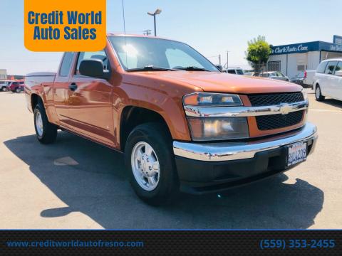 2007 Chevrolet Colorado for sale at Credit World Auto Sales in Fresno CA
