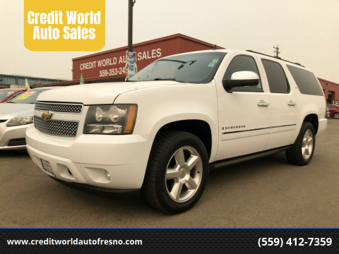 2009 Chevrolet Suburban for sale at Credit World Auto Sales in Fresno CA