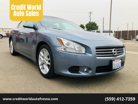 2010 Nissan Maxima for sale at Credit World Auto Sales in Fresno CA