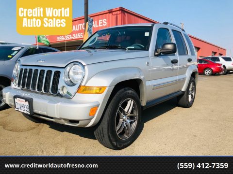 2005 Jeep Liberty for sale at Credit World Auto Sales in Fresno CA