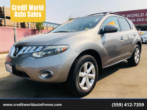 2009 Nissan Murano for sale at Credit World Auto Sales in Fresno CA