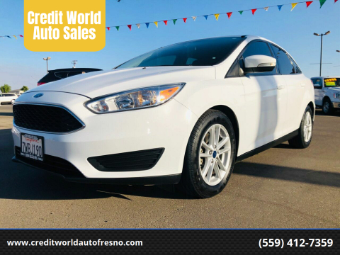 2017 Ford Focus for sale at Credit World Auto Sales in Fresno CA