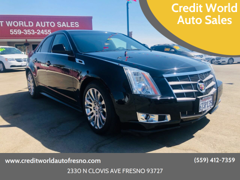 2011 Cadillac CTS for sale at Credit World Auto Sales in Fresno CA