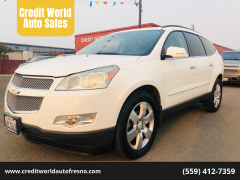 2011 Chevrolet Traverse for sale at Credit World Auto Sales in Fresno CA